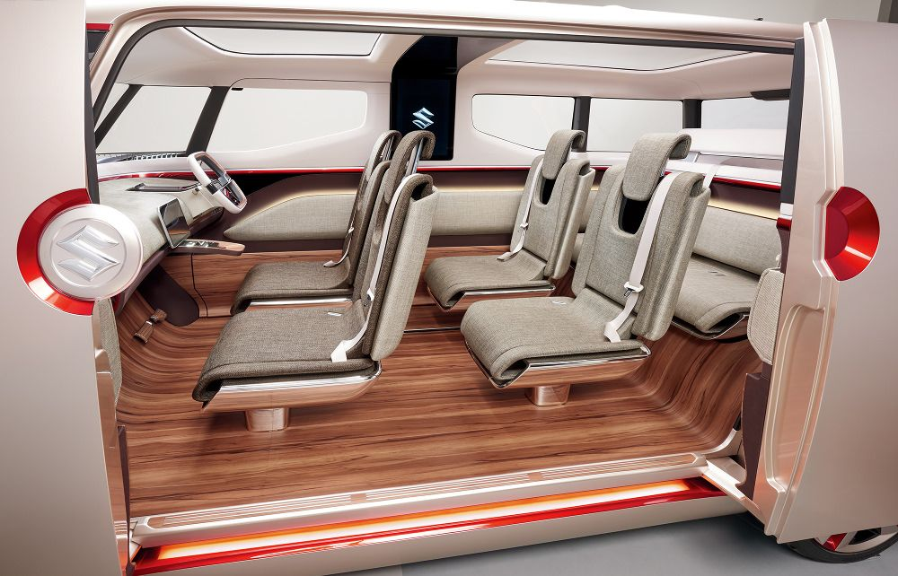 Preview Salon Automobile Tokyo Suzuki Concept Car Interiors - Monospace porte coulissante