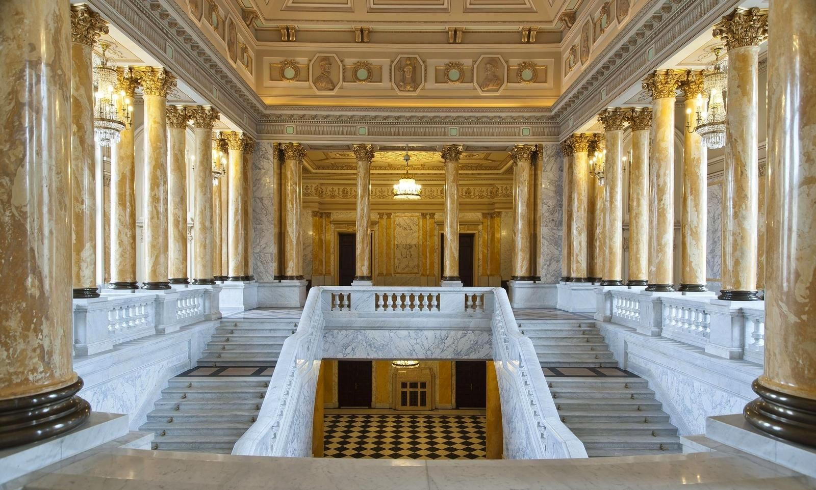 Romania Dacia on WordPress.com | National museum, Marble columns, European  palace
