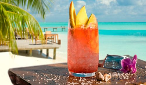 How About A Little Sex On The Beach Drink Fill Your Glass With Fruit And Vodka Enjoy