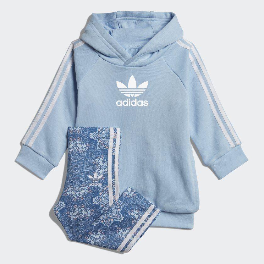 Culture Clash hoodiesæt Clear Sky White DV2326 | Printed