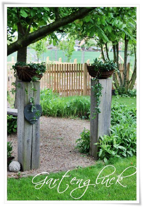 Sichtschutz - Ideen aus Stein, Geflecht, Holz und Stoff - cottage garten deko