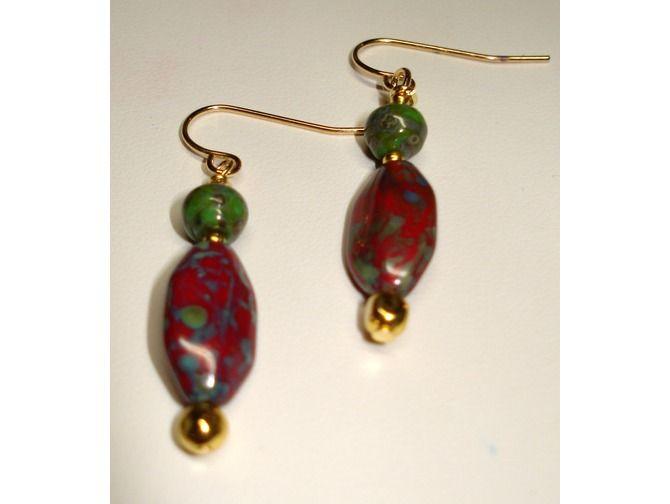 Picasso Beaded Earrings $12.00