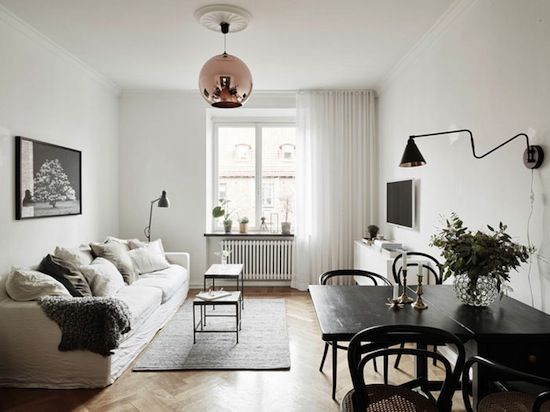 Etc Inspiration Blog Refined Minimalist Apartment In Sweden Via Nordic Design Living Room Photo