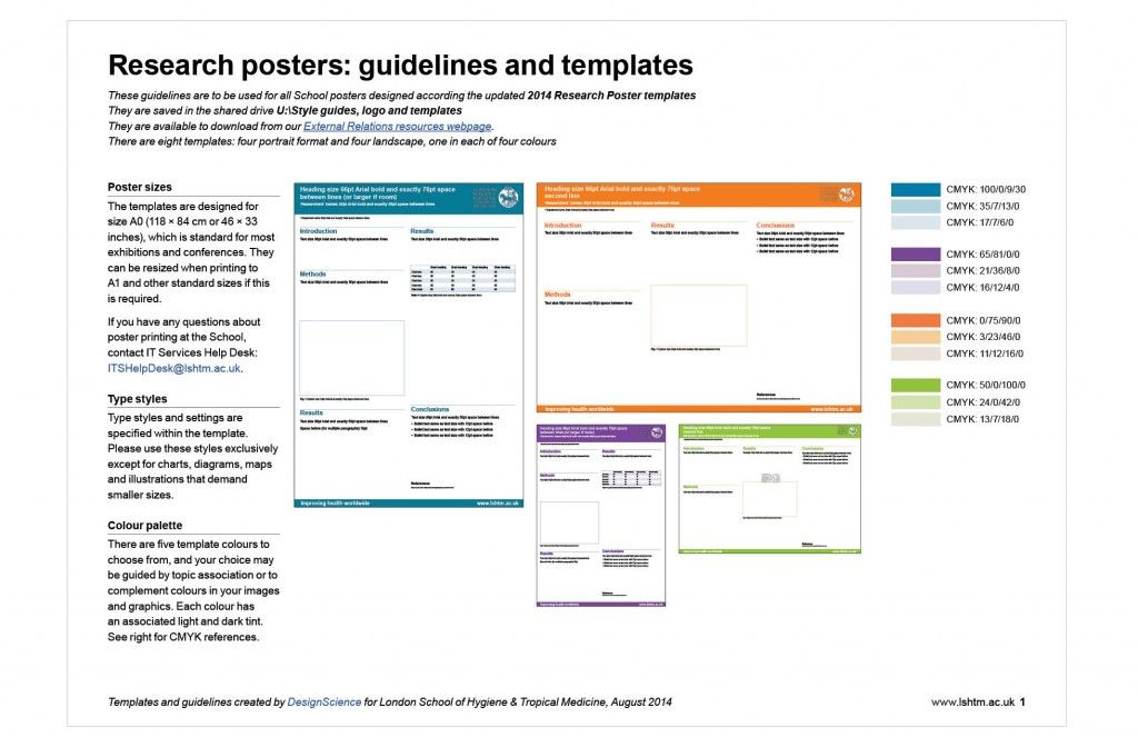 The Research Poster Guidelines Comprise Of A Page Pdf Document