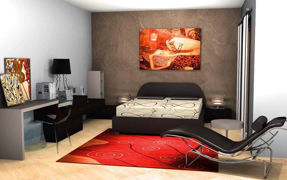 camera da letto con angolo studio sermobil clothes
