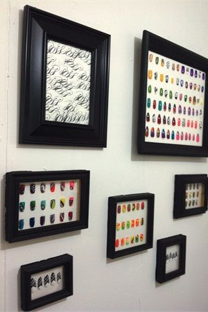 How To Make A Shadowbox To Display Your Nail Art Salon Ideas