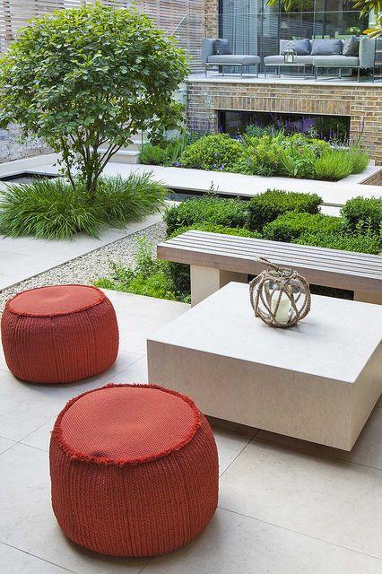 Notting Hill Garden Garden On A Hill Garden Design Garden Seating