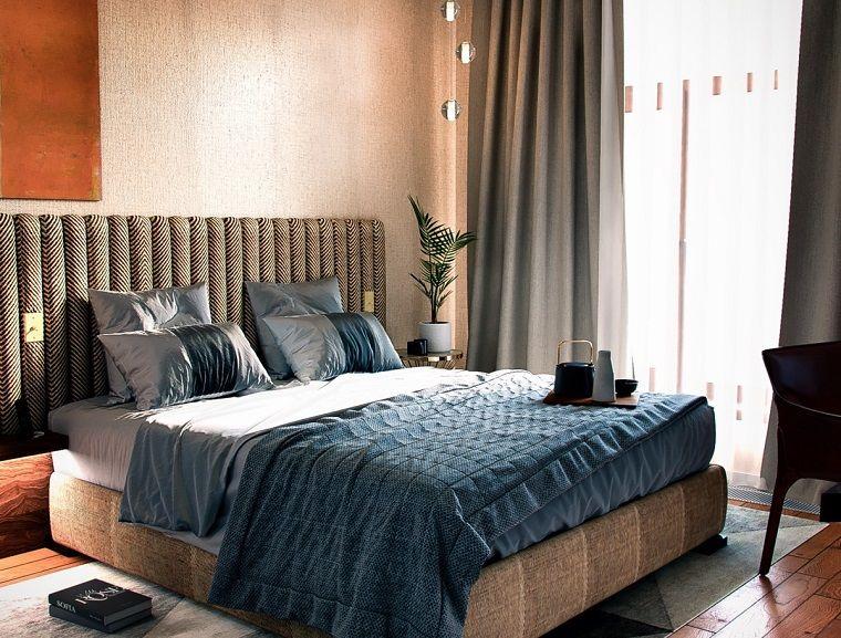 Decorazioni Camere Da Letto Moderne : Case moderne interni camera da letto con testiera di tessuto