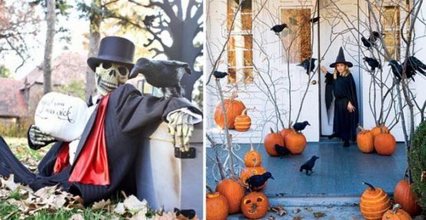 Halloween decorations  IDEAS  INSPIRATIONS Outdoor Halloween - halloween decorations on pinterest