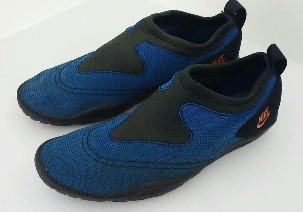 Nike Vintage 1996 Blue/Black Slip On Aqua Water Socks Shoes ...