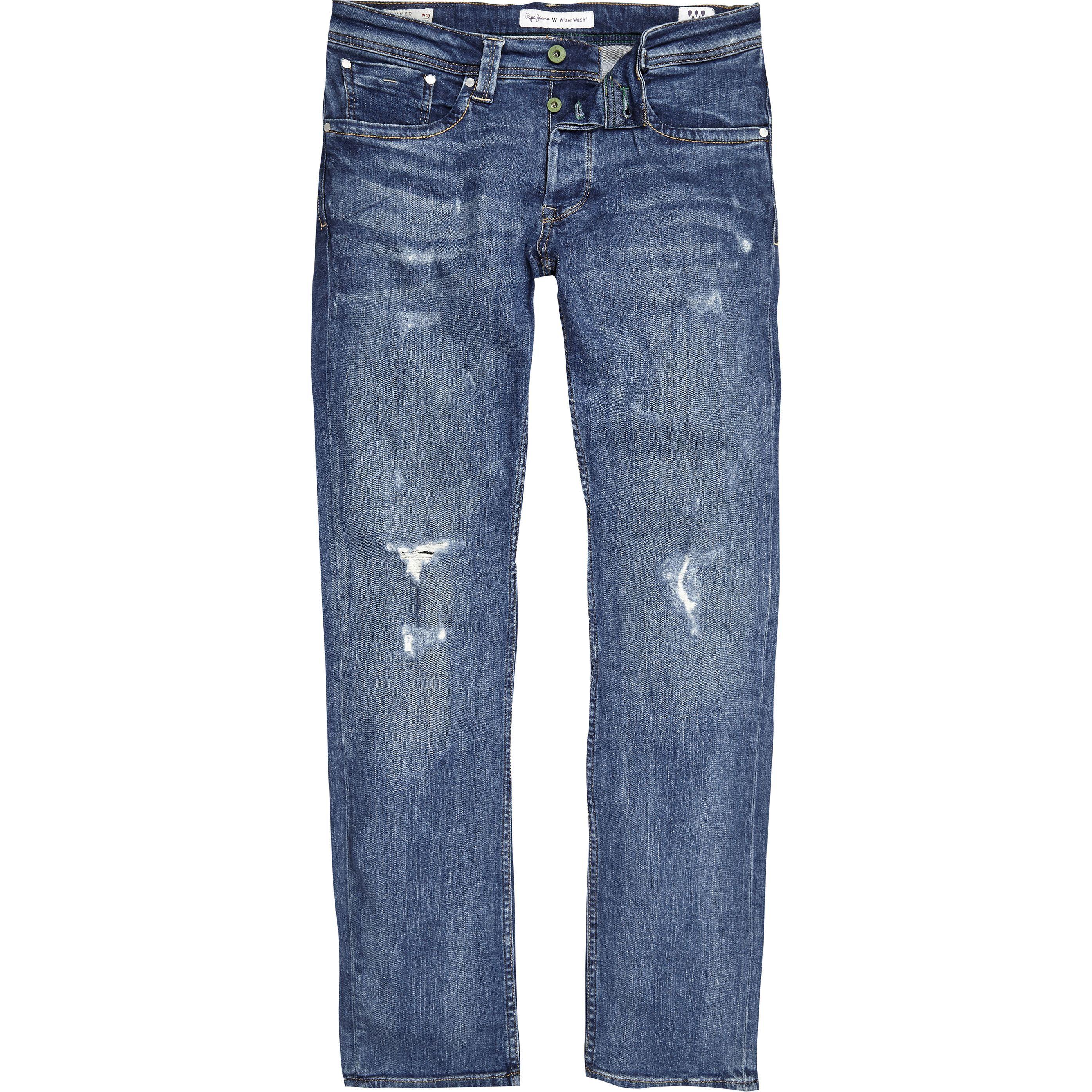 beste Qualität für 100% Zufriedenheit kosten charm Pepe Jeans blue Cash ripped jeans in 2019 | Products | Pepe ...