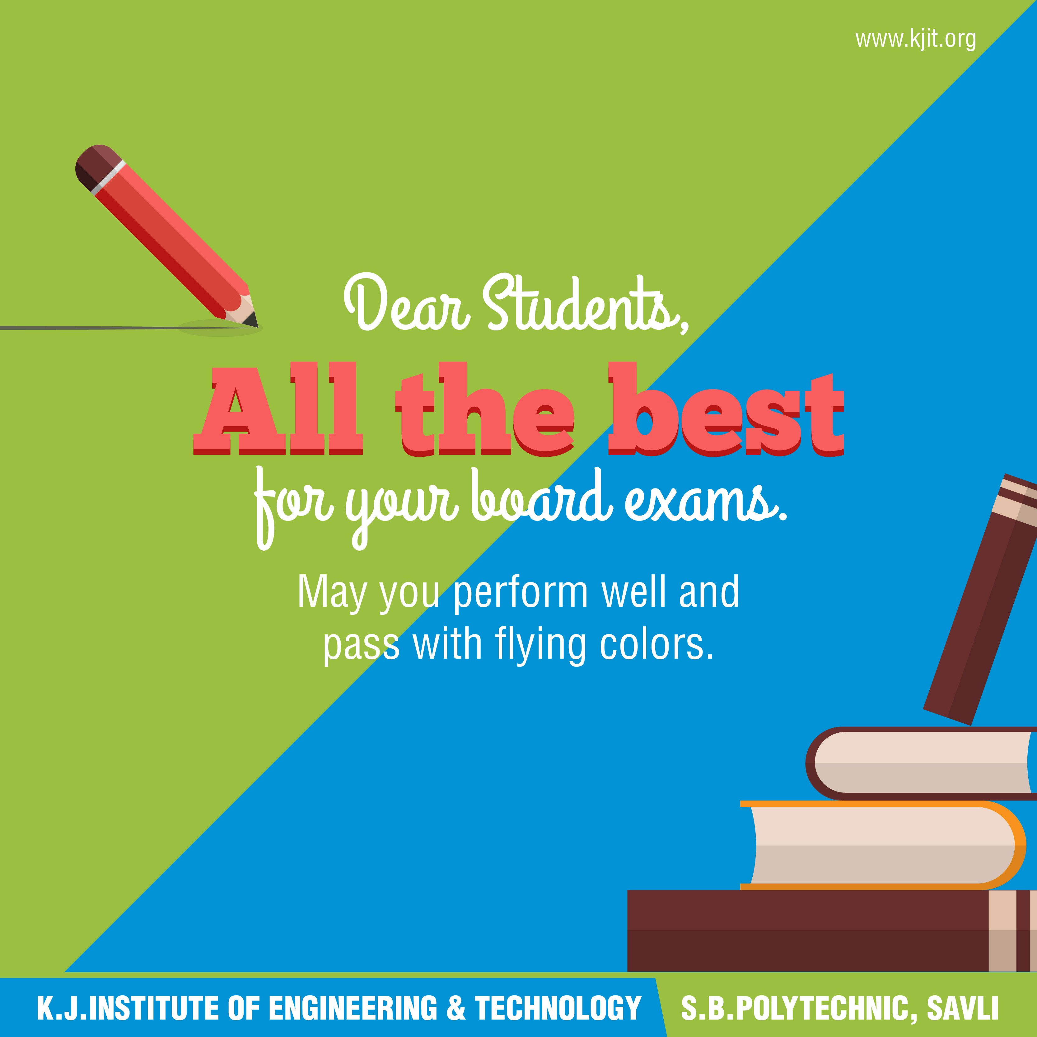 KJIT Engineering College - Savli wishes every student appearing for ...