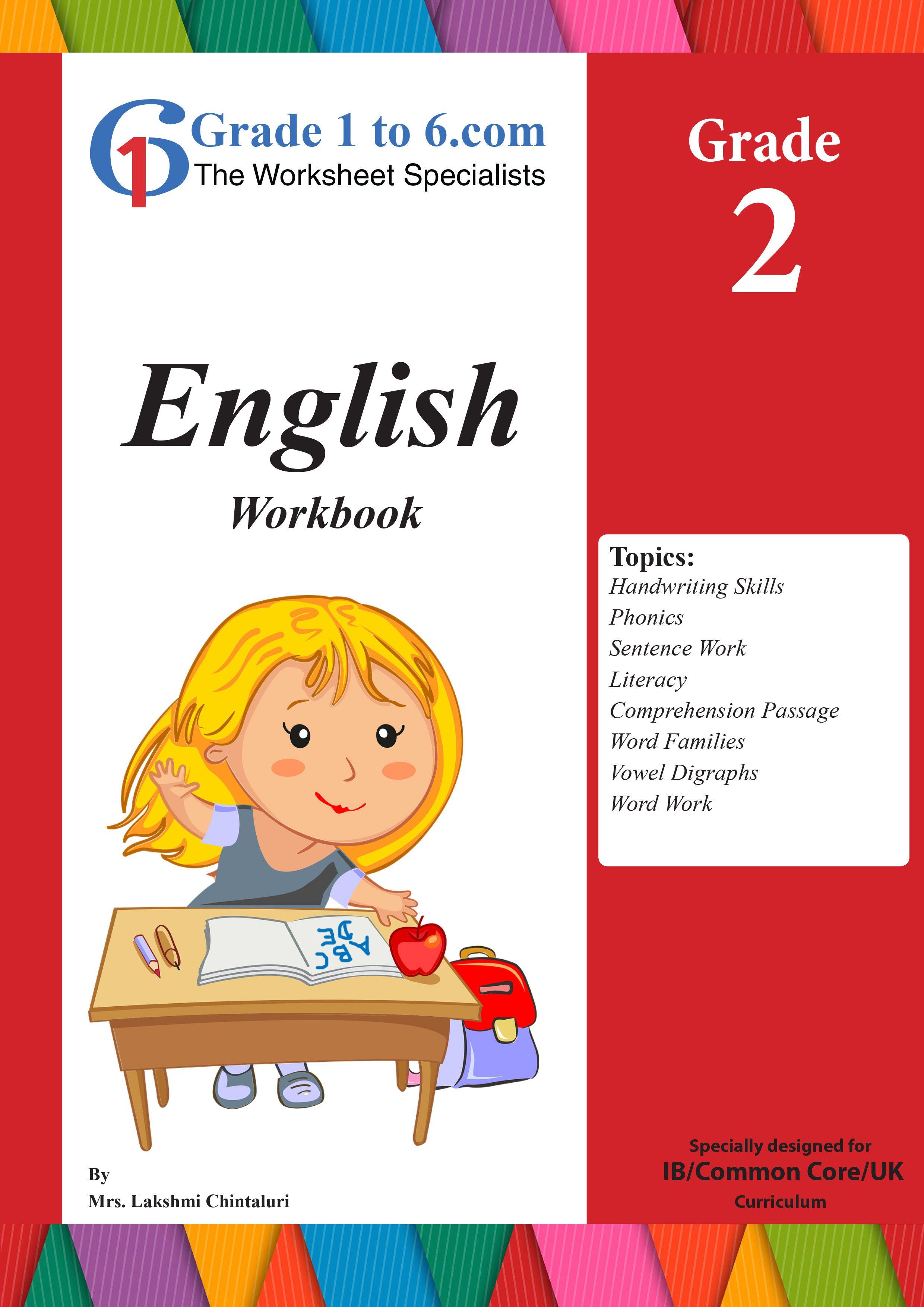 Grade 2 English Workbook Worksheets Bundle From