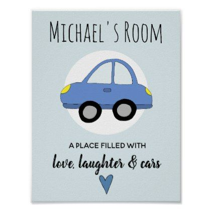 Baby boy blue car name nursery encouragement poster baby boy blue car name nursery encouragement poster baby gifts giftidea diy unique cute negle Image collections