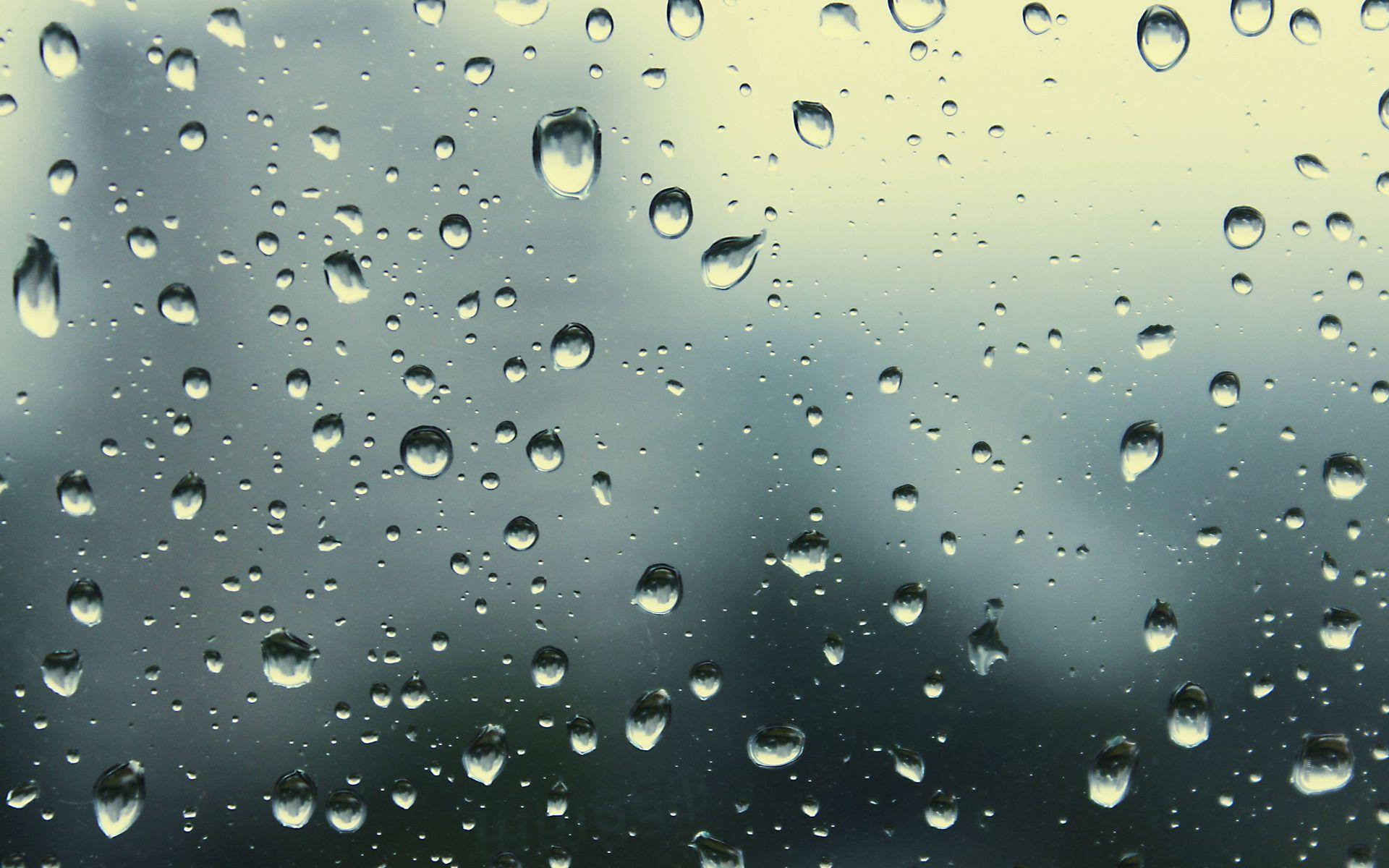 Rain Drops On Glass Wallpaper Rain Drops Computer Wallpaper Rain