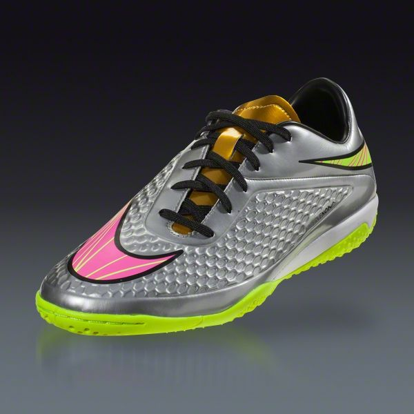 d4ce81311fb3 Nike Hypervenom Phelon IC Premium - Chrome/Metalic Gold Coin/Hyper Pink  Indoor Soccer Shoes | SOCCER.COM