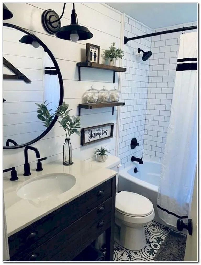 43 Farmhouse Bathroom Decor And Ideas Bathroomideas