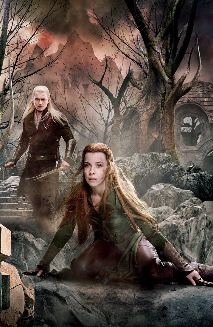 Legolas and Tauriel in The Battle of the Five Armies