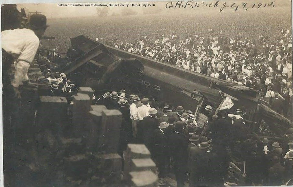 Train wreck between Hamilton and Middletown, Butler County