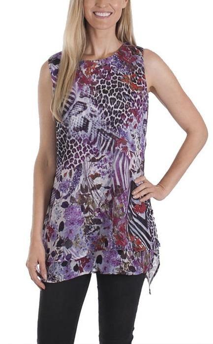 9034178e6e8 Fever Ladies' Double Layer Sleeveless Blouse | Costco Fashion ...