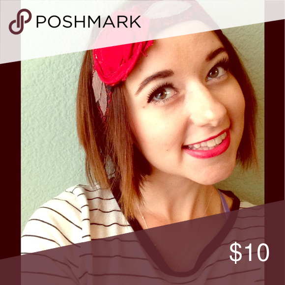 Boutique patterned headband  Red, black, and grey flower patterns! Ties in the back Accessories Hair Accessories