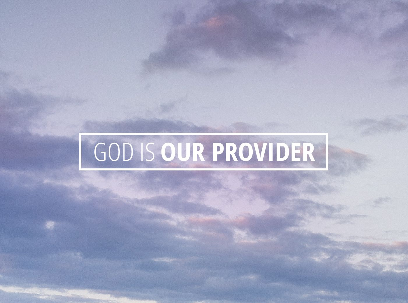 God is Our Provider | Devotional reading, Daily devotional, God