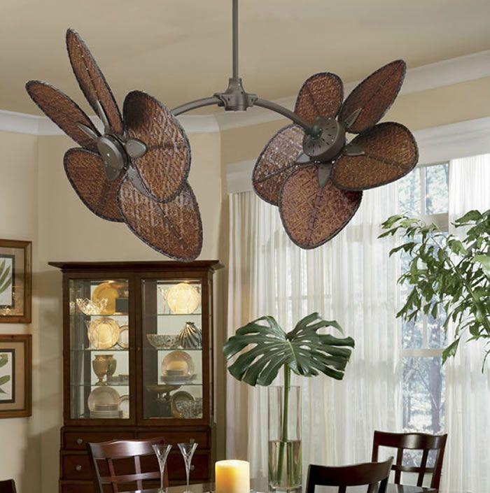Caruso Antique Brass Dual Ceiling Fan
