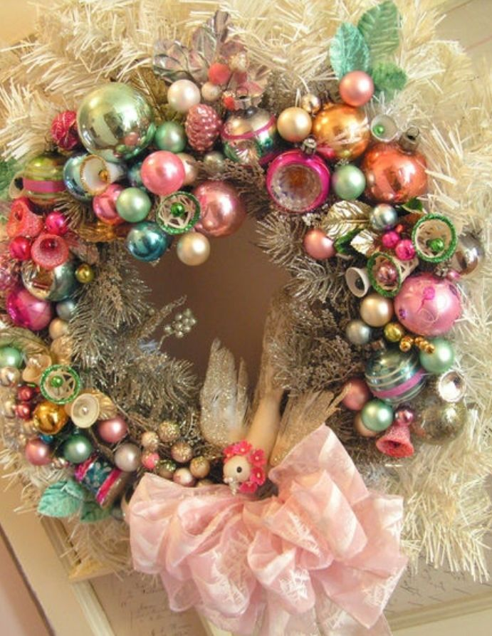 Like a pink christmas wreath Christmas Time Pinterest Pink