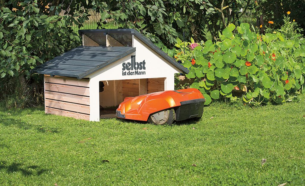 m hroboter garage selber bauen projects pinterest lawn mower lawn and gardens. Black Bedroom Furniture Sets. Home Design Ideas