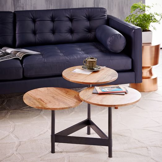 Tiered Circles Coffee Table Raw Mango West Elm Casual