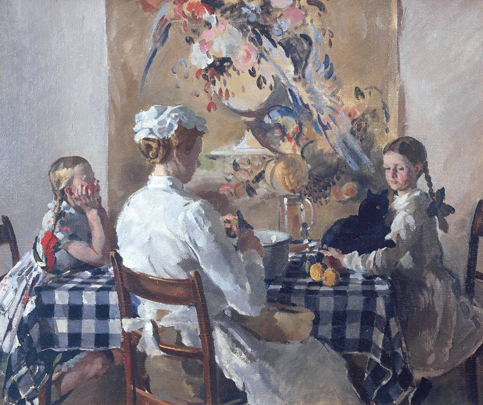 Philip Connard 1875 1958 - Jane Evelyn James And Helen