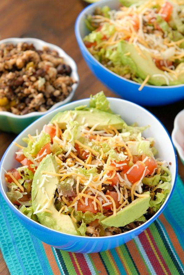 Lean Turkey Black Bean Quinoa Burrito Bowls Boulderlocavore Com Black Bean Quinoa Chipotle