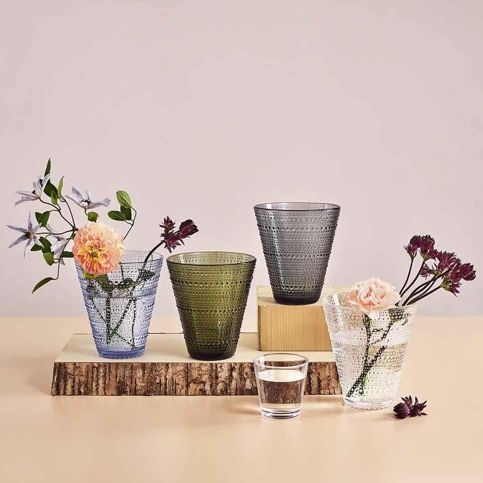 Iittala Kastehelmi Glass Flower Vase 15 5cm Clear H