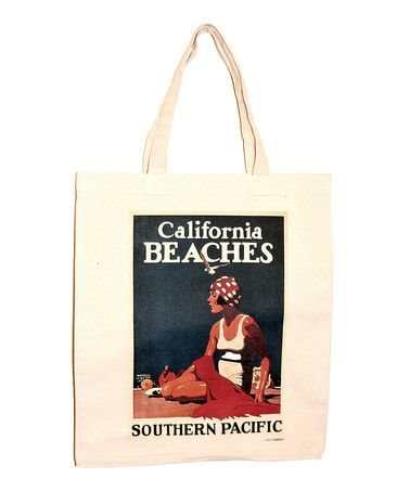 Take a look at this Natural Canvas Retrospect California Tote by Talented Totes on #zulily today! $12 !!