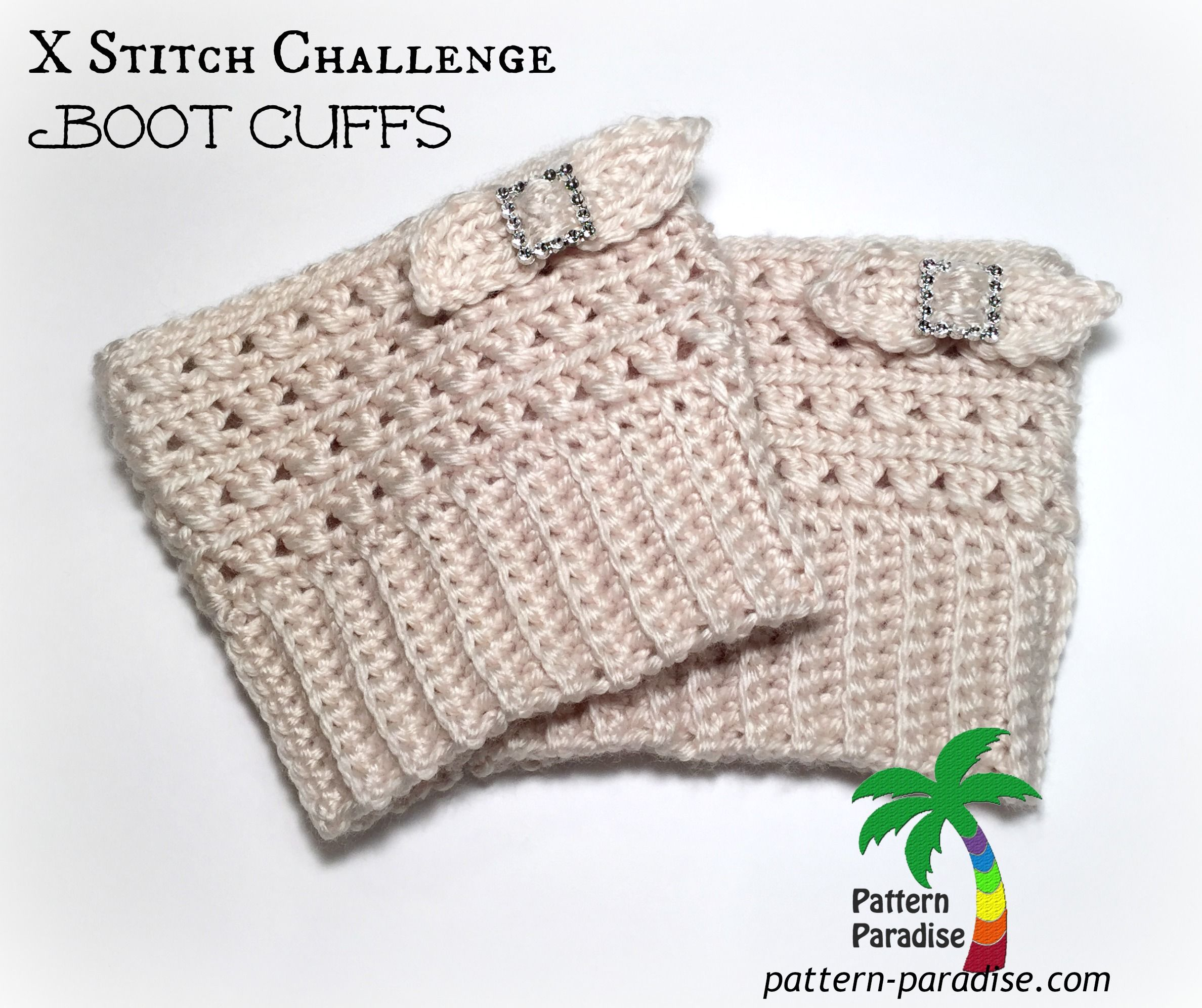 Xst boot cuffs title by pattern paradise is a free pattern but x stitch challenge boot cuffs free crochet pattern by pattern paradise bankloansurffo Images