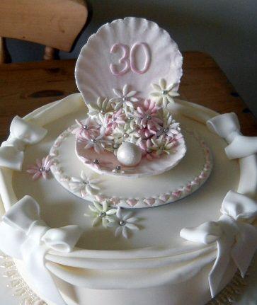 30th Anniversary Cake Pearl Cakes Wedding Anniversary Cakes