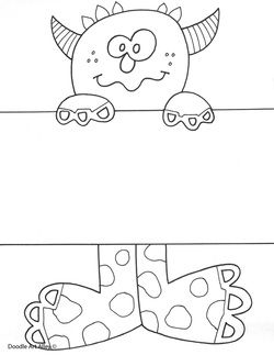 Name Templates With Images Monster Coloring Pages Coloring