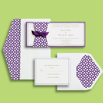 brides wedding collection purple mod invitation wedding invites stationery gallery brides - Brides Wedding Invitation Kits