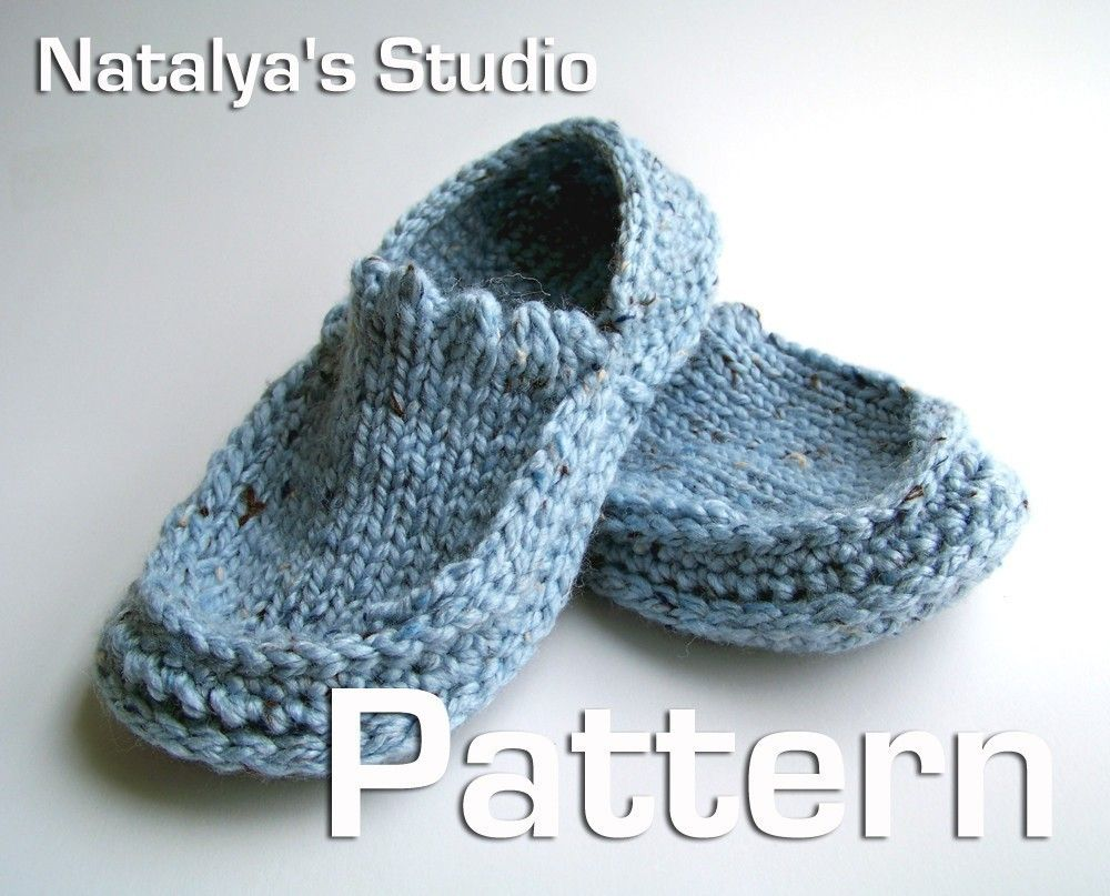 Contemporary Knitting Slipper Pattern Images - Sewing Pattern for ...
