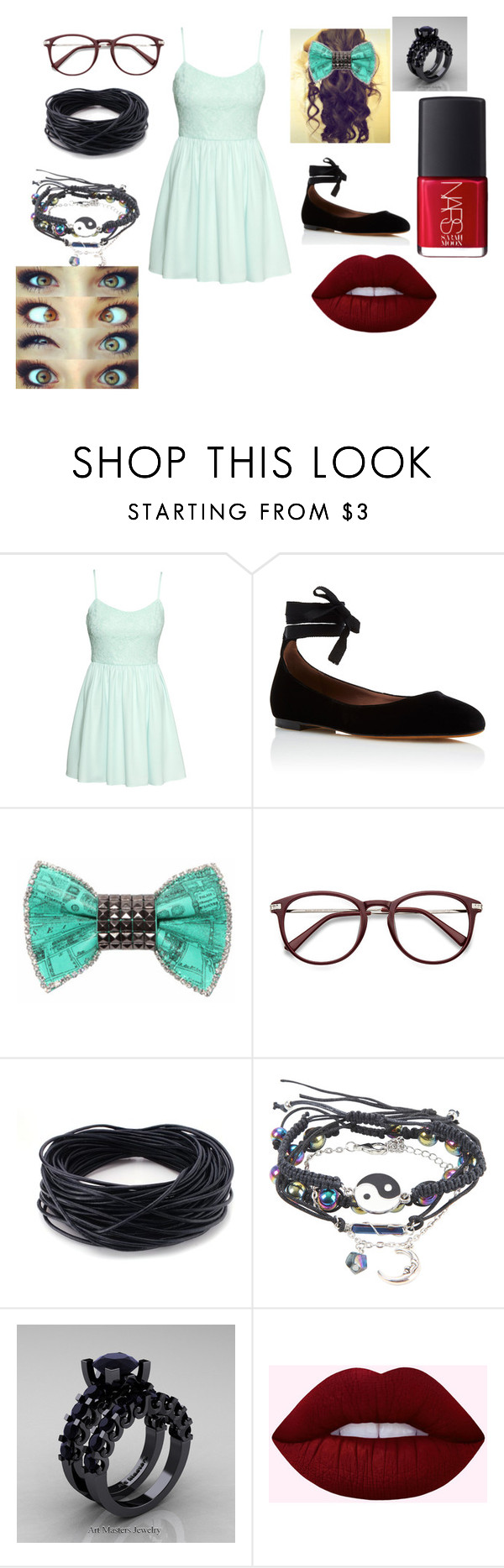 """Untitled #607"" by pooka515 on Polyvore featuring H&M, Tabitha Simmons, Bijoux de Famille, Modern Vintage and NARS Cosmetics"