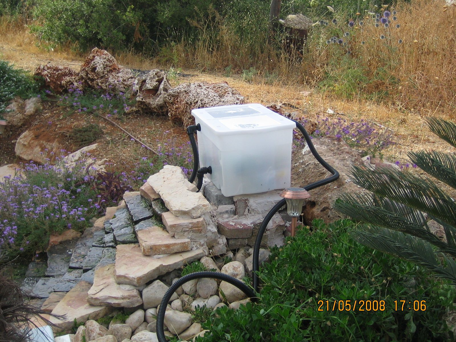 DIY How to Build a Gravitational Filter for a Koi Pond