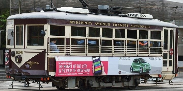 McKinney Avenue Trolley, Dallas, Texas, USA