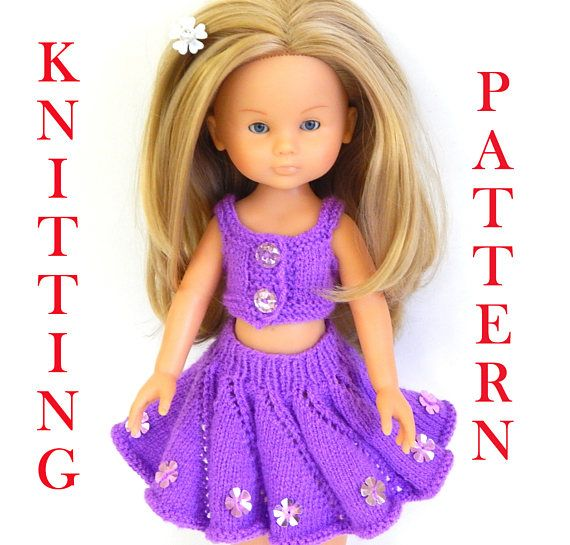 Knitting Pattern To Knit Dolls Clothes To Fit 12 13 14 Inch 32