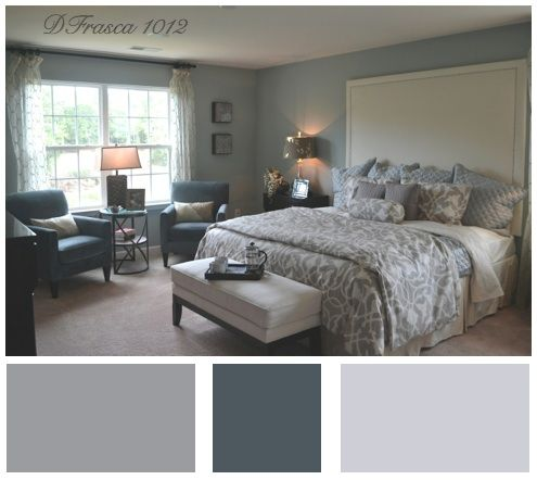Bedroom Colors Grey Blue the #1 #color scheme for the master bedroom. it's so very popular