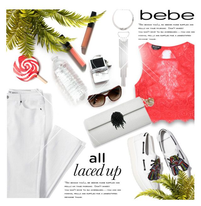 """All Laced Up for Spring with bebe"" by monazor ❤ liked on Polyvore featuring Bebe, Lands' End, Summer, Spring, bebe and alllacedup"