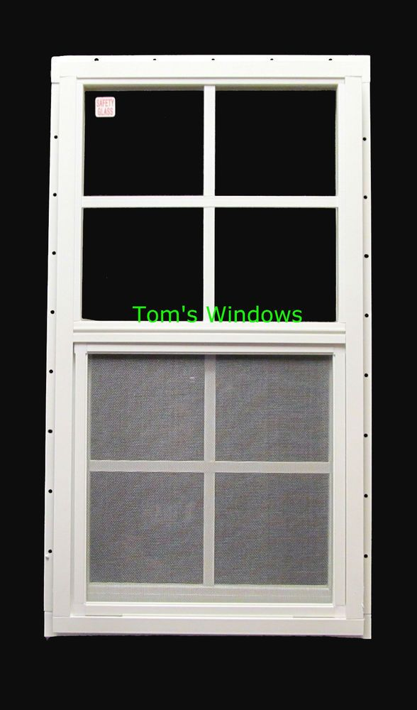 Shed Window 18 X 36 Safety Glass Garage Window White J Channel Barn Playhouse Garage Windows Shed Windows Barn Playhouse