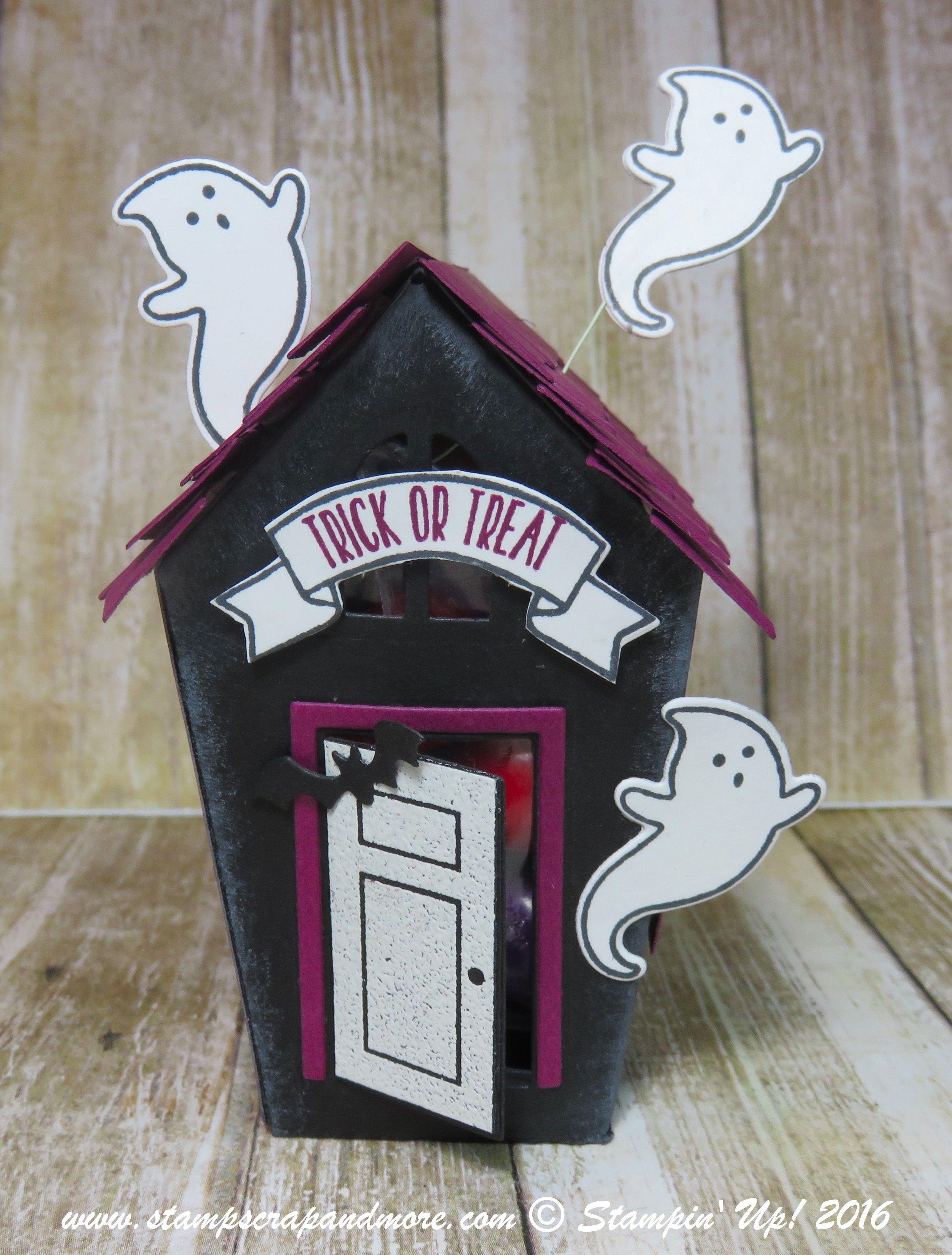 3-D, Sweet Home, Stampin\' Up!   Halloween Ideas   Pinterest ...