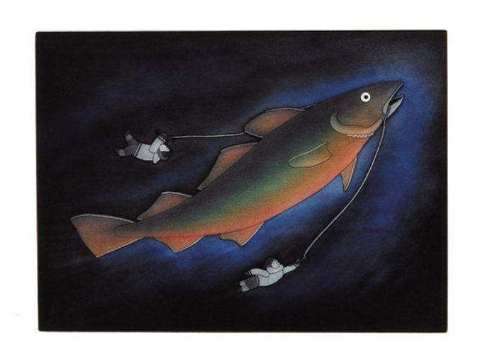 Fishermens Folly (2004) by Qavavau Manumie, Inuit artist (CD2004-06)