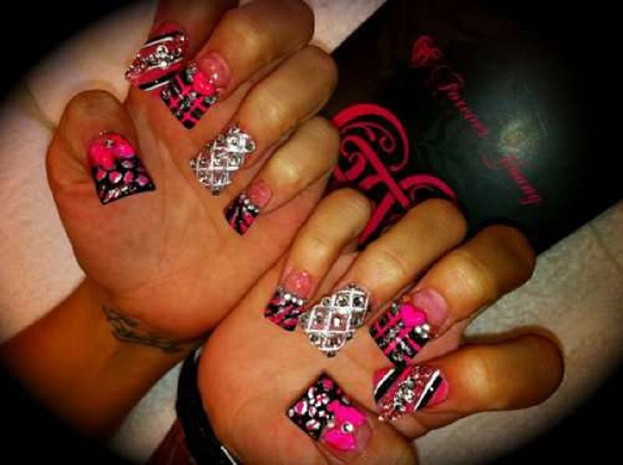1000 Images About Nails On Pinterest Nail Art Nail Art For Beginners And  Short Acrylics - 1000 Ideas About Acrylic Nails On Pinterest Acrylics Nails And