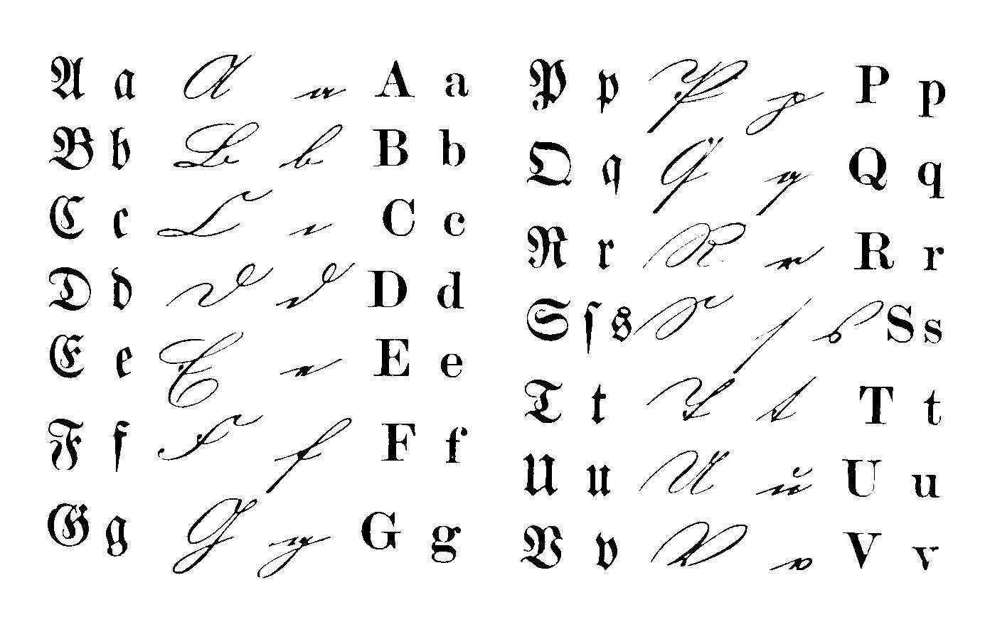 Altdeutsche Schriftzeichen